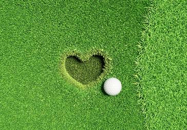 Golf Heart in Grass at Billy Casper Golf Course