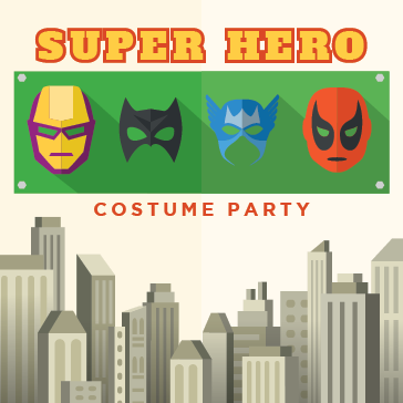 Super Hero Costume Party at Centennial Park in Munster, Indiana