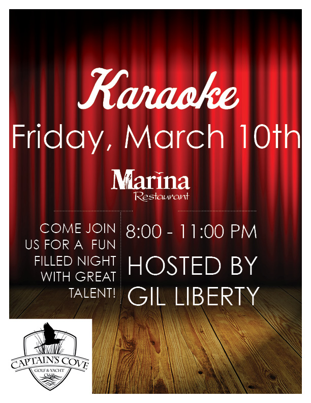 Captain's Cove Karaoke Hosted by Gil Liberty
