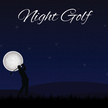 Glow Golf at Harbour Pointe golf course