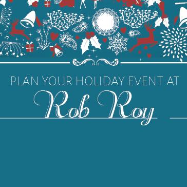 Holiday banquets at Rob Roy Golf Course
