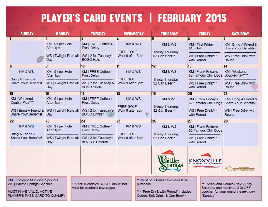 2015 Feb Loyalty Calendar