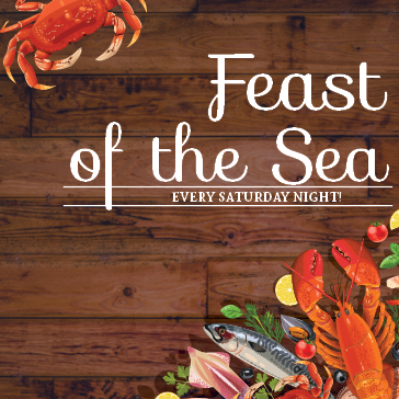Feast of the Sea at the Marina Restuarant located in Captains Cove Golf and Yacht Club in greenbackville, va
