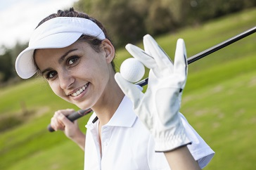 Girl Ladies Women with Golf Gear