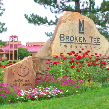 Broken Tee Golf Course - entrance sign by clubhouse