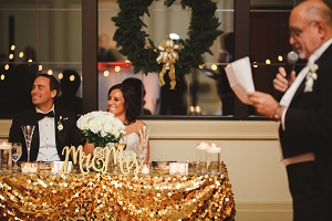 Winter Wedding Sweetheart Table