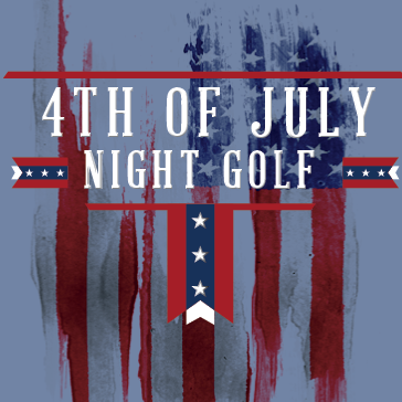 4th of July Night Golf at a Billy Casper golf course