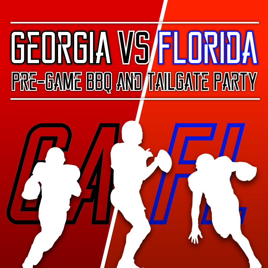 Georgia vs Florida pregame bbq and tailgate event at Fernandina Beach Golf Club in Fernandina Beach, FL