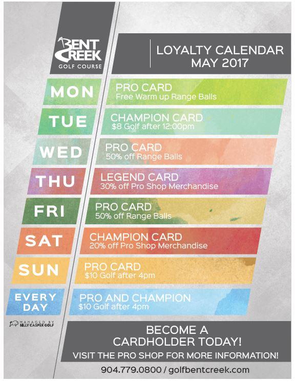 May Loyalty Calendar