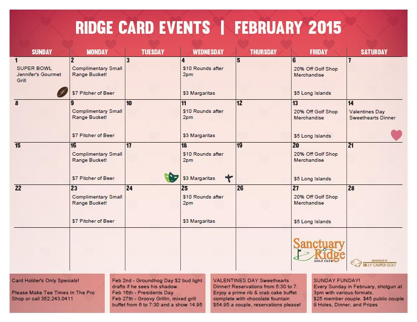 Feb Card Calendar