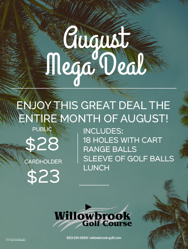 willowbrook golf course winter haven fl 33881 August Mega Deal