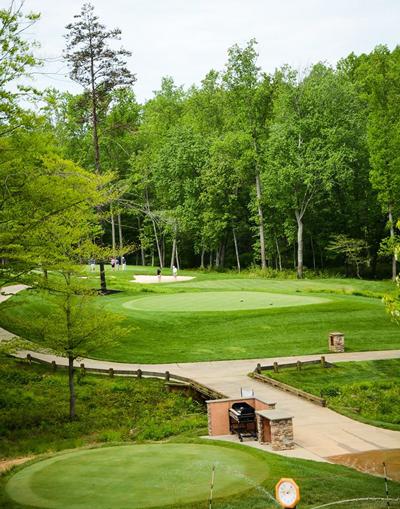 Spring Creek Golf Club - green and pond