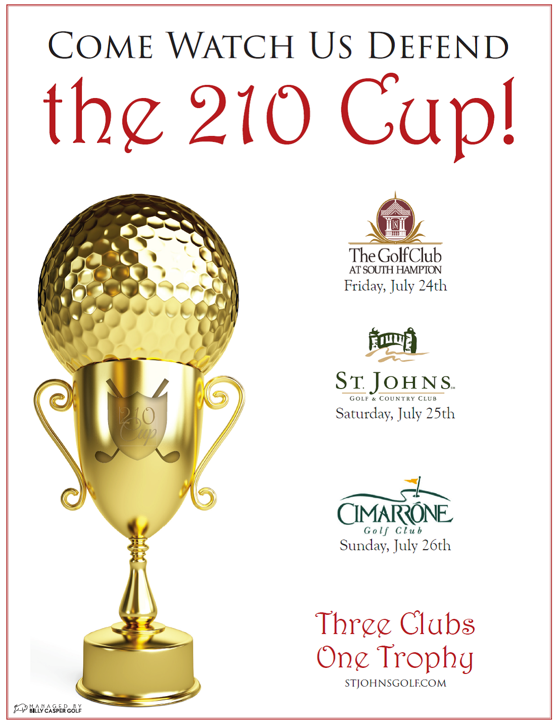 Men's 210 Cup St. Johns Golf & Country Club