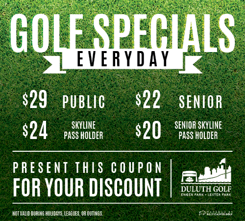 Duluth Golf Specials Coupon