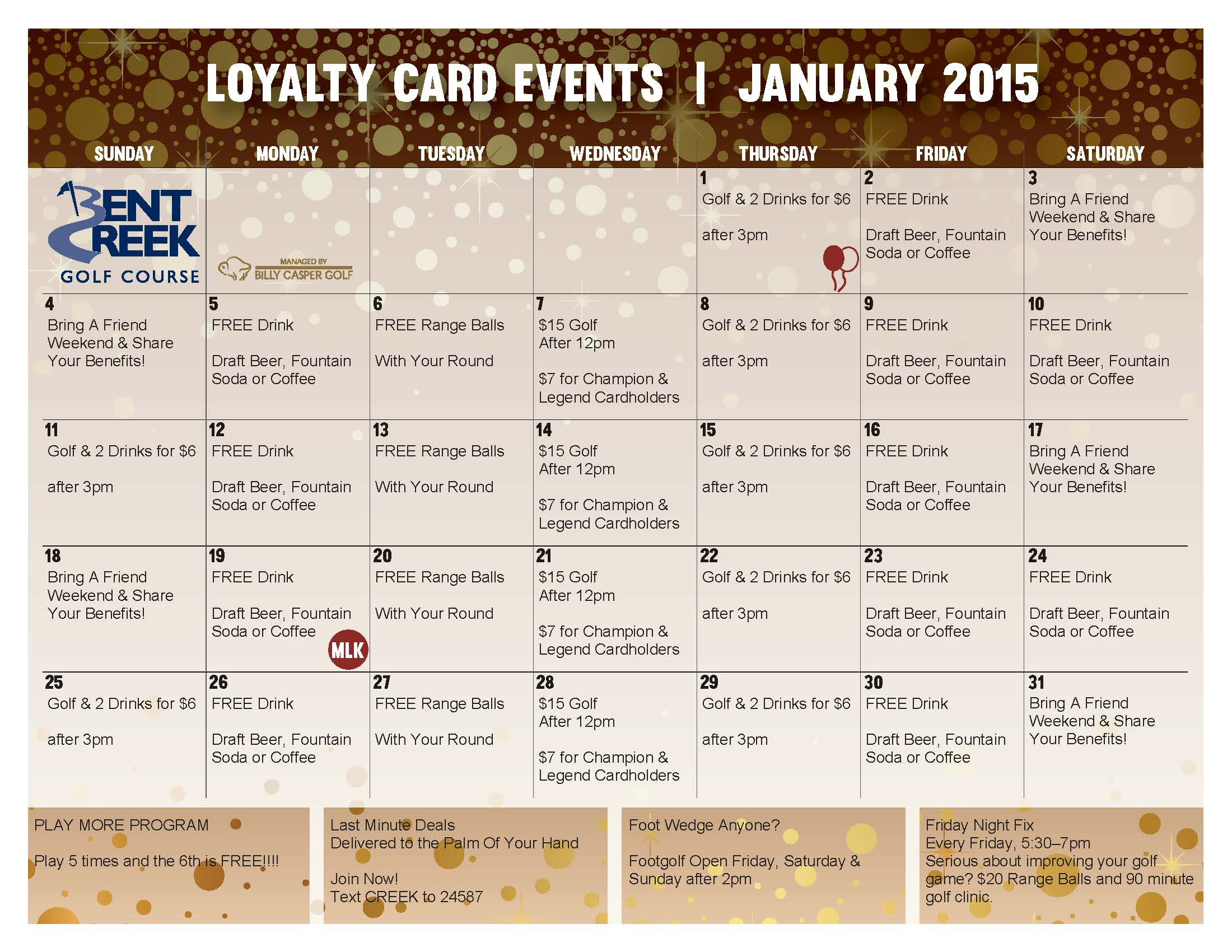 January Loyalty Calendar