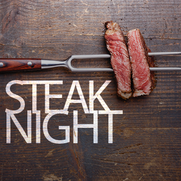 Steak Night at the Marina Restuarant located in Captains Cove Golf and Yacht Club in greenbackville, va