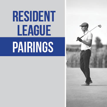 Resident League Pairings at Whisper Creek Golf Club