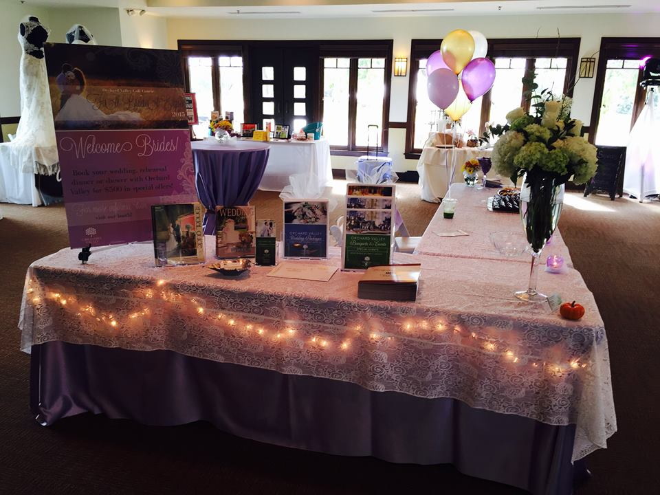 bridal expo at Orchard Valley Golf Course