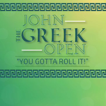 John The Greek Open web banner Event at Rock Manor Golf Course