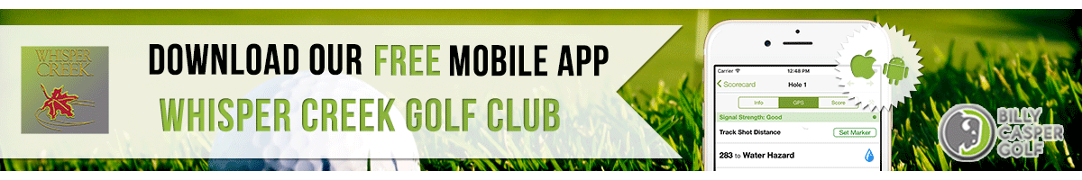 whisper creek Golf App