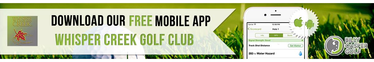 whisper creek Golf App