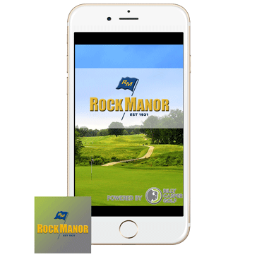 Mobile App Phone with Icon Web Banner at Rock Manor