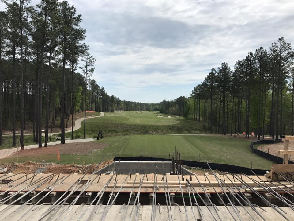 Magnolia Green new golf clubhouse and restaurant construction photos - March 2017