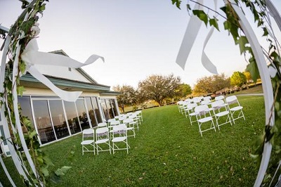 ceremony set up at Sanctuary Ridge Golf Club