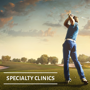 Specialty Clinics, Golf Academy web banners