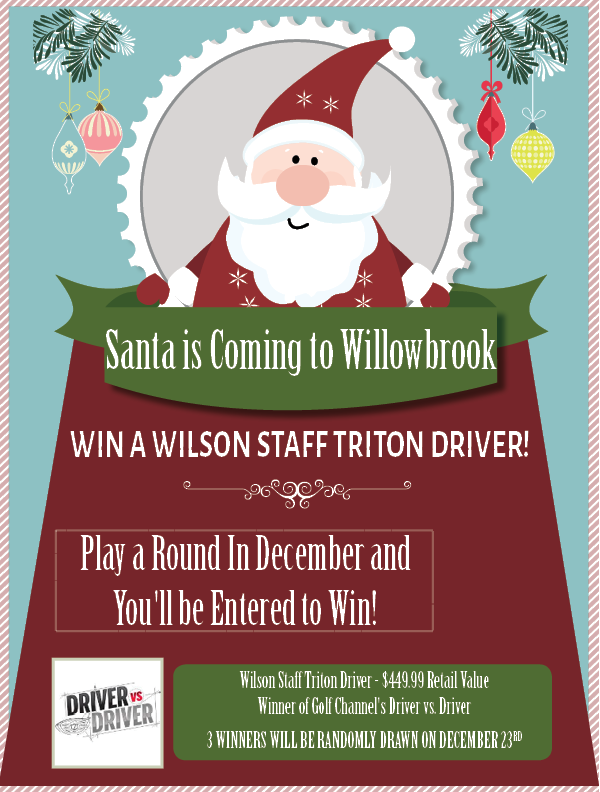 SANTA IS COMING TO TOWN WILLOWBROOK GOLF COURSE WINTER HAVEN 33881