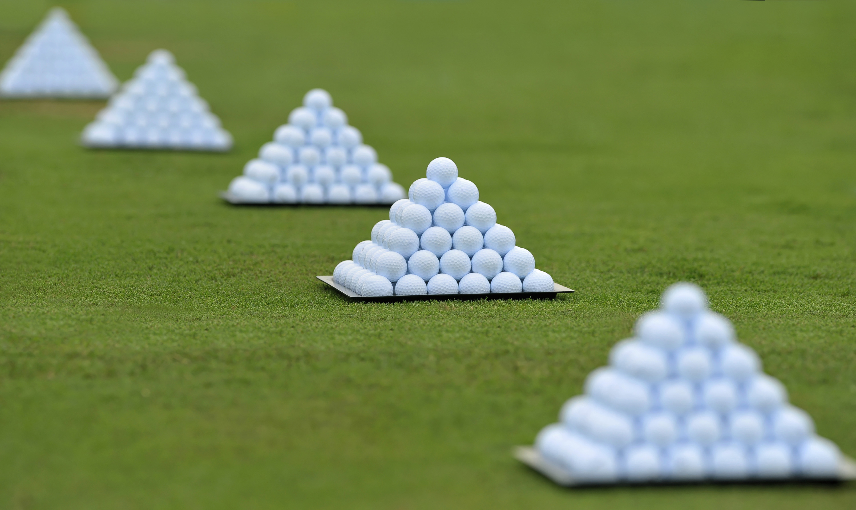 Fresh Stacked Golf Balls