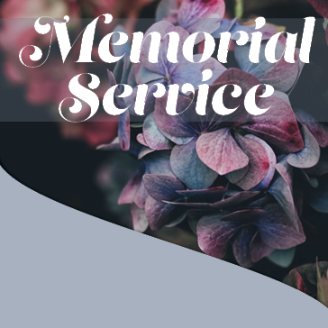 Memorial Services held here - inquire today