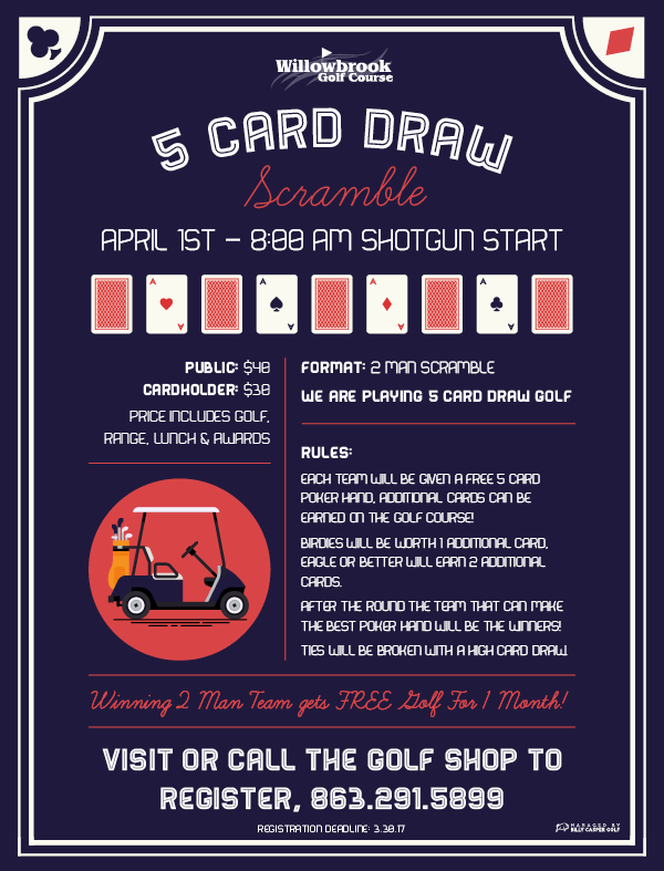 WILLOWBROOK 5 CARD DRAW SCRAMBLE
