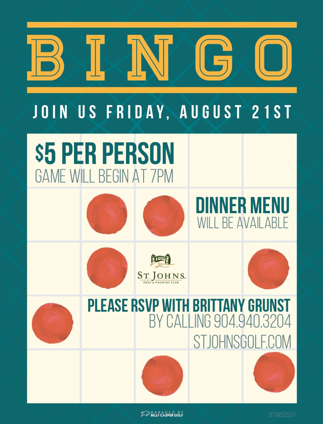 Bingo St. Johns Golf & Country Club