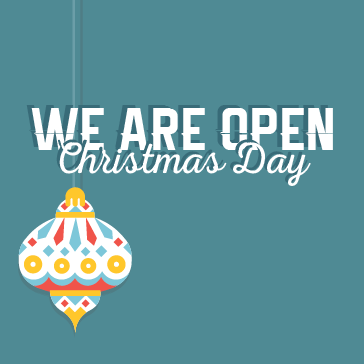 We Are Open on Christmas Day at Colony West