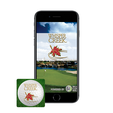 Phone with Icon App Web Banner Whisper Creek Golf Club
