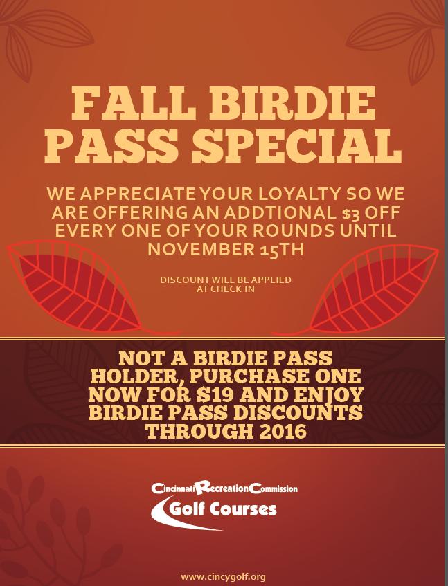 Birdie Pass Fall Special