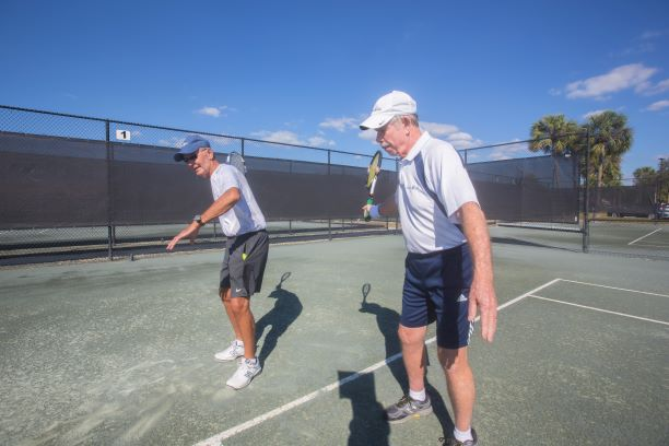 tennis train