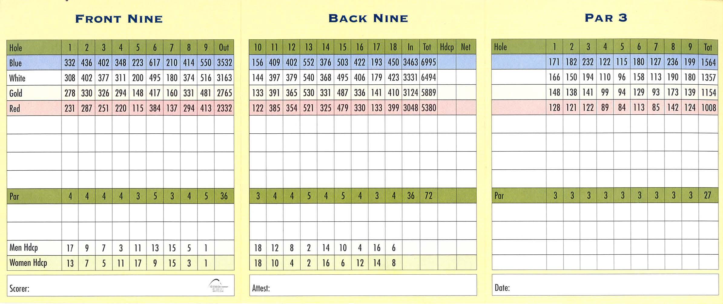 Scorecard - Broken Tee Colorado