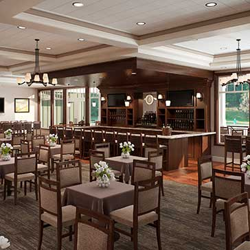 Magnolia Green Golf Club - Clubhouse Interior Bar