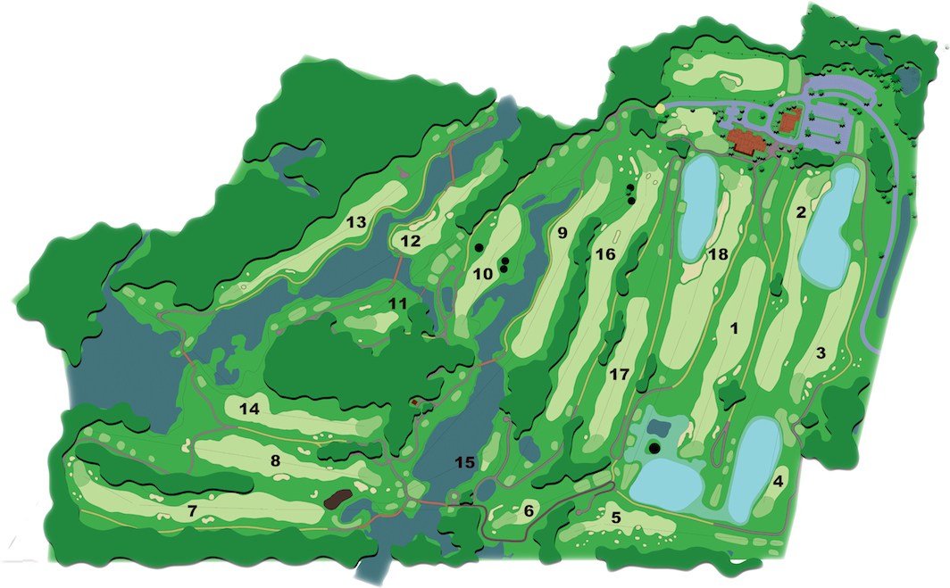 Pound Ridge Golf Club - Course Map