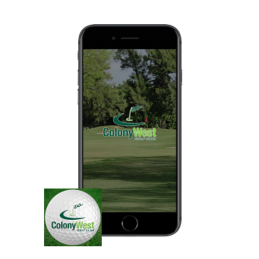 Colony West golf app - golf page banner