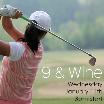 9 and Wine event at Quarry Pines Golf Course