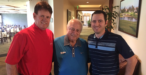Tommy Lasorda visits Alta Vista Country Club