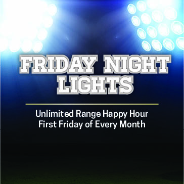Friday Night Lights Promo for Range Happy Hour at The Claw Golf Course Tampa Florida