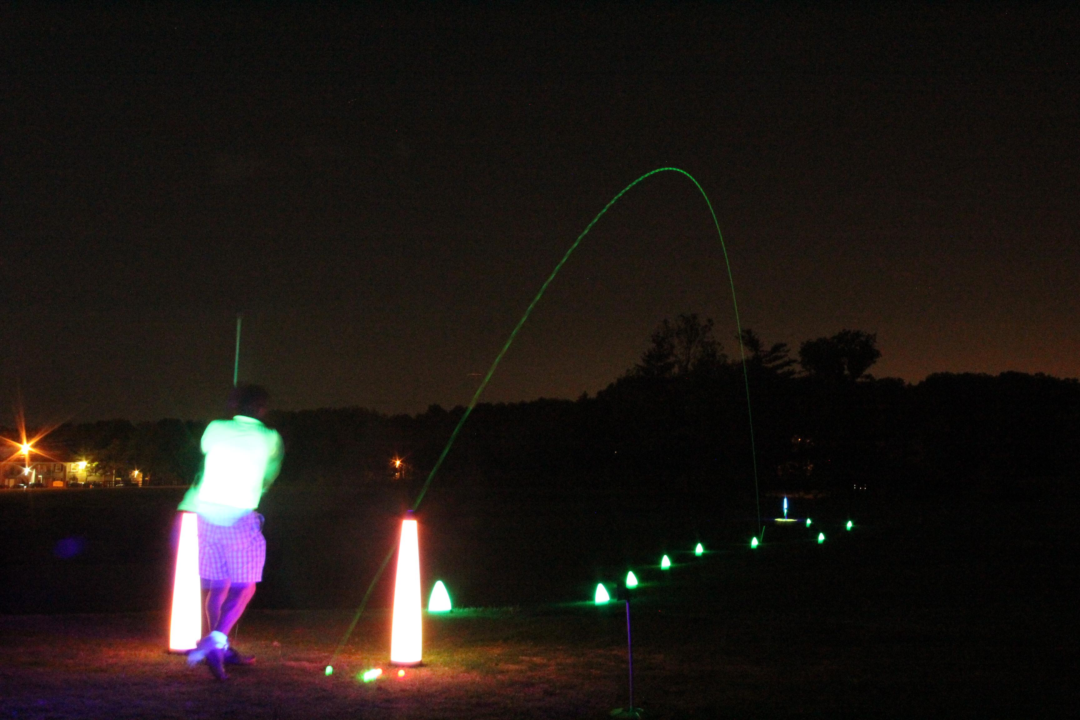 Night Golf at Sydney Marovitz Golf Course in Chicago, Illinois