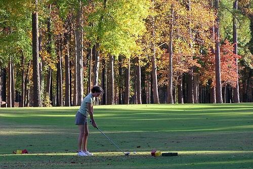 WGA womens golfer cypress landing
