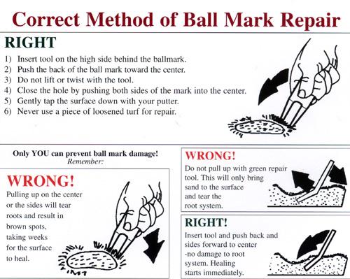 Ballmark repair