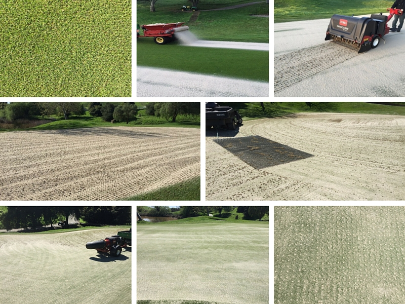 Hiddenbrooke Golf Club - Aeration Process