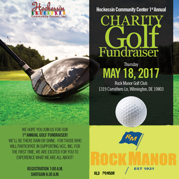 Hockessin Community Center 1st Annual Charity Golf Fundraiser at Rock Manor Golf Club